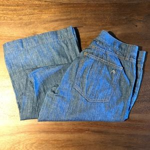 Rag and Bone Wide Legs Chambray Jeans Size 28